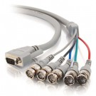 6ft Premium VGA Male to RGBHV (5-BNC) Male Video Cable