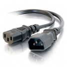 3ft Computer 18 AWG Power Cord Extension (IEC320C14 to IEC320C13)