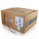 500ft Cat5E UTP 350 MHz Solid Plenum-Rated Cable - Blue