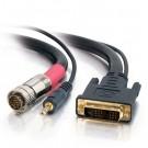 1.5ft RapidRun Digital DVI-D™ + 3.5mm Audio Passive Flying Lead